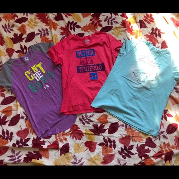 Under Armour Other - Girls Under Armour heatgear t-shirt bundle